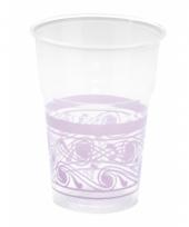 Lila paarse decoratie bekers 10 stuks trend