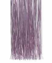 Lila paarse kerstversiering folie slierten 50 cm trend