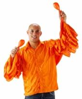 Limbo overhemd oranje met rouches heren trend