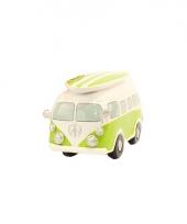 Lime groene vw surf bus spaarpot trend