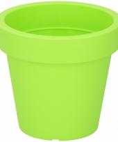 Lime grone sierpot 16 cm voor binnen of buiten trend