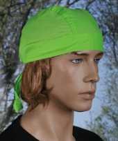 Lime kleurige hoofddoek uni 1 trend