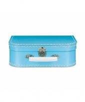 Logeerkoffertje lichtblauw 25 cm trend