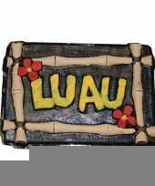 Luau decoratie bord hawaii feest trend