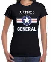 Luchtmacht air force verkleed t-shirt zwart voor dames trend
