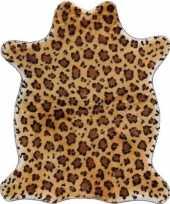 Luipaard nep dierenvel kleed plaid 90 cm trend