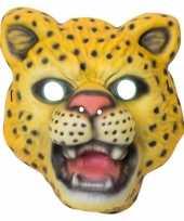 Luipaard panter verkleed dierenmasker voor kinderen trend
