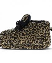 Luipaard pantoffels bruin voor dames trend