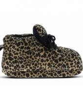 Luipaard pantoffels bruin voor meisjes trend