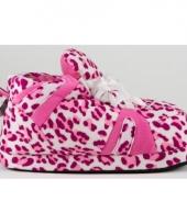 Luipaard pantoffels roze voor dames trend