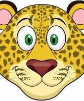 Luipaarden maskers van karton trend