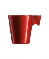Lungo beker rood trend