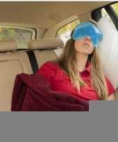 Luxe blauw gel oogmasker slaapmasker trend
