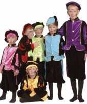 Luxe blauwe pieten kostuum voor kinderen trend