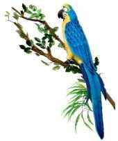 Luxe blue ara knuffel 72 cm trend