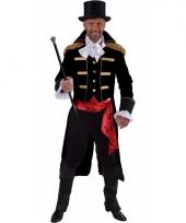 Luxe circus directeur outfit zwart voor heren trend 10064067