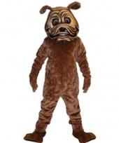 Luxe dieren pak bulldog mascottes trend