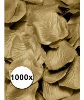 Luxe gouden rozenblaadjes 1000 stuks trend