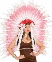 Luxe hoofdband met roze veren trend