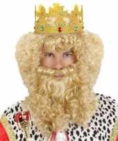 Luxe konings pruik voor de carnaval trend