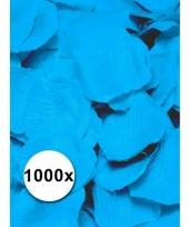 Luxe lichtblauwe rozenblaadjes 1000 stuks trend