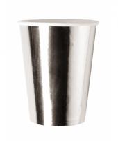 Luxe metallic zilveren bekers 8x trend