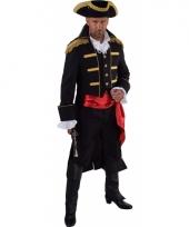Luxe piraat outfit zwart voor heren trend