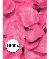 Luxe roze rozenblaadjes 1000 stuks trend