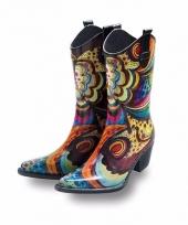 Luxe rubberen laarzen bloem trend