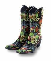 Luxe rubberen laarzen paisley trend