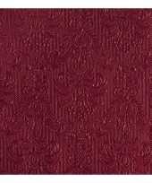 Luxe servetten barok patroon bordeaux rood 3 laags 15 stuks trend