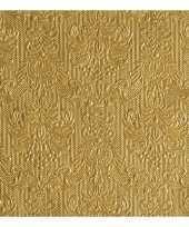 Luxe servetten barok patroon goud 3 laags 15 stuks trend