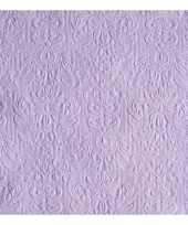Luxe servetten barok patroon paars 3 laags 15 stuks trend