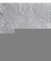 Luxe servetten barok patroon zilver 3 laags 15 stuks trend
