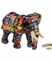 Luxe spaarpot olifant blauw van keramiek 22 cm trend