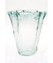 Luxe uitlopende vaas voor boeketten 20 cm trend