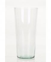 Luxe uitlopende vaas voor boeketten 25 cm trend