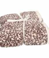 Luxe vachtdeken baby sneeuwpanter print 140 x 200 cm trend