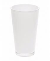 Luxe witte uitlopende vaas voor boeketten 22 cm trend