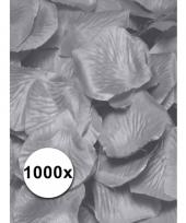 Luxe zilveren rozenblaadjes 1000 stuks trend