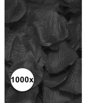 Luxe zwarte rozenblaadjes 1000 stuks trend