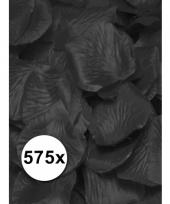 Luxe zwarte rozenblaadjes 575 stuks trend