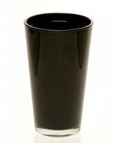 Luxe zwarte uitlopende vaas voor boeketten 22 cm trend