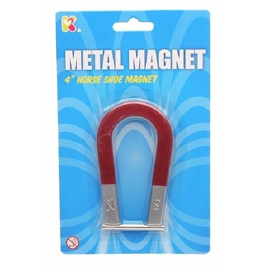 Magneet in de vorm van een hoefijzer 10 cm trend