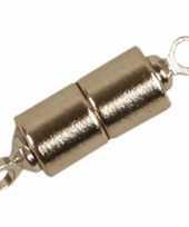 Magneet slotjes verzilverd 2x 5mm trend