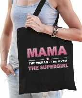 Mama the supergirl cadeau tas zwart voor dames trend