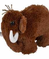 Mammoeten speelgoed artikelen mammoet knuffelbeest bruin 26 cm trend