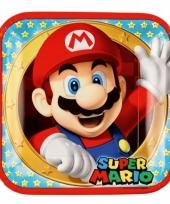 Mario en luigi kartonnen bordjes 8 stuks trend