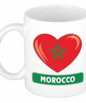 Marokkaanse vlag hartje theebeker 300 ml trend