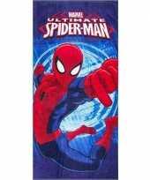 Marvel spiderman badlaken strandlaken blauw 70 x 140 cm trend